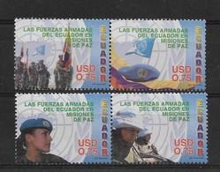 ECUADOR 2005, ECUADORIAN ARMY, PEACE MISSIONS, 4 VALUES MI2865-8, YT 1859-62 - Ecuador