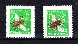Corea Sud  -  1960-63. Ape. Bee. I Due Valori, Rari, MNH - Api