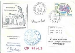 YT 2885 - Martigues - Lettre Postée à Bord Du Marion Dufresne - Iles St Paul Et Amterdam - Rotation Touristes Aux TAAF - Lettres & Documents