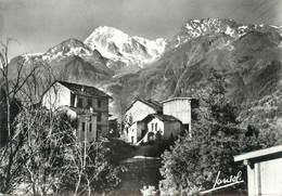 """/ CPSM FRANCE 73 """"Sainte Foy Tarentaise, Village De Mazure Et Le Mont Pourri"""" - France"""