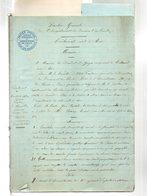 MARTIN JEAN BAPTISTE,horticulteur à AIX.Document De 26 Pages Manuscrites .1895..+ 3 Lettres. - Documenti Storici