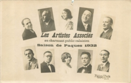 CALAIS LES ARTISTES ASSOCIES AU CHARMANT PUBLIC CALAISIEN SAISON DE PAQUES 1932 MODERN PHOTO CALAIS - Calais