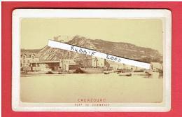 CHERBOURG MANCHE 1881 LE PORT DE COMMERCE PHOTOGRAPHIE CDV - Lieux