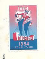 Facture Avec Vignette Foire De PARIS 1954 / PARIS / Meules CETA / Cie Centrale Des Emeris Et Abrasifs - Vignetten (Erinnophilie)