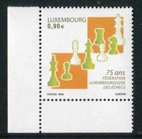 """Timbres** De 2006 Du LUXEMBOURG """"75 Ans Fédération Luxembourgeoise Des Echecs"""" - Luxembourg"""
