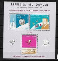 #B146C# ECUADOR MICHEL BL 29 MNH**. SPACE, KENNEDY. - Ecuador