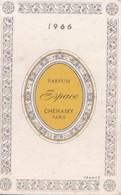 Calendrier De Poche 1966 Parfum,parfumerie Cheramy Paris (publicité Salon Coiffure Martin Rue Foch à Beaupréau) - Calendriers