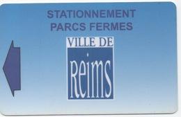 Ancienne Carte De Stationnement Avec Bande Magnétique : Ville De Reims Parc Fermé - France