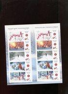 Belgie Boekje Happy Winter  MNH Duostamps Deer Flowers Squirrel Snowman Homme à Neige Sneeuwman - Timbres Personnalisés