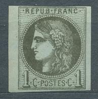 N°39a NEUF** REPORT I SIGNE CALVES DEUX BORDS DE FEUILLES - 1870 Bordeaux Printing
