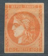 N°48 ORANGE VIF NEUF*. VARIETE - 1870 Bordeaux Printing