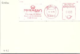 ALLEMAGNE - EMA PREUSSAG - GOSLAR 12.9.85  / 1 - [7] República Federal