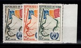Tchad - YV 63 à 65 N** Complete - Admission à L'ONU - Tchad (1960-...)