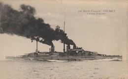 CPA  - MARINE FRANCAISE - COURBET - CUIRASSE D'ESCADRE - 306 - L. F. F. - Guerre