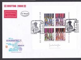 Österreich ANK 2352 - 2355 Block 17 Kunst Hundertwasser FDC Ersttag 2000 - FDC