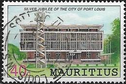 MAURITIUS 1991 Anniversaries And Events - 40c City Hall, Port Louis (25th Anniv Of City Status) FU - Mauritius (1968-...)