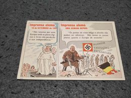 ANTIQUE POSTCARD WWII  PROPAGANDA GERMANY PRESS IN 1941 UNUSED - Guerre 1939-45