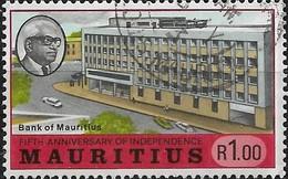 MAURITIUS 1973 Fifth Anniv Of Independence - 1r - Bank Of Mauritius FU - Mauritius (1968-...)