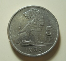Belgium 5 Francs 1939 - 1934-1945: Leopold III