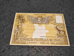ANTIQUE POSTCARD ANGOLA 1º EXPOSIÇÃO FILATELICA DE ANGOLA LUANDA 1950 UNCIRCULATED - Angola