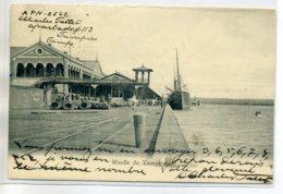 MEXIQUE Muelle De TAMPICO Port Quai Bateau Materel Dechargé 1907 Timbrée    /D07-2017 - Mexique