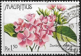 MAURITIUS 1977 Indigenous Flowers - 1r.50 - Dombeya Acutangula FU - Mauritius (1968-...)