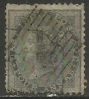 India - 1855 Queen Victoria 4a Grey-black Used    SG 46  Sc 16 - India (...-1947)
