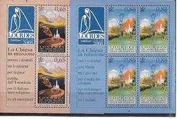 VA017 - VATICANO 2008 - FOGLIETTI BF 49 E BF 50  - MADONNA DI LOURDES - NUOVI - Vatican