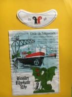 9196 - Basler Rhyhafe Wy 1988  Dôle Et Féchy Vin Du Port De Bâle Sur Le Rhin 2 étiquettes - Etiquettes