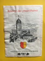 9201 -  Réserve Des Propriétaires  Association Viticole D'Aubonne Suisse - Etiquettes