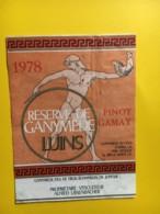 9205 -  Réserve De Ganymède 1978 Pinot Gamay Suisse - Etiquettes
