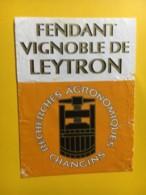 9206 - Fendant Vignoble De Leytron Recherches Agronomiques Changins  Suisse état Moyen - Etiquettes