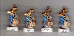 Lot 4 Fèves Dont 3 Brillantes & 1 Mâte VIL LE COYOTE Au Violoncelle -  LA FETE 2000 - 1999 - 2001- / W.B - Dessins Animés