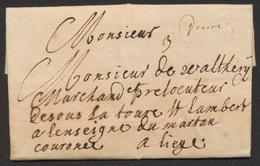 """Précurseur - LAC """"pressée"""" Datée De Malines 21 Juillet 1737 Vers Liège + Réponse Le 29/7 - 1714-1794 (Austrian Netherlands)"""