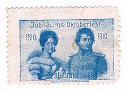 L72) Jubiläums - Oktoberfest, Fest-Brautpaar, Reklamemarke, Vignette - Vignetten (Erinnophilie)
