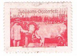 L82) Jubiläums - Oktoberfest, Preisvieh, Reklamemarke, Vignette - Vignetten (Erinnophilie)