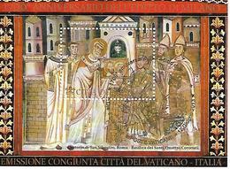 VA022 - VATICANO 2013 - FOGLIETTO BF 78 - SAN SILVESTRO E COSTANTINO - USATO CON ANNULLO SPECIALE PRIMO GIORNO - Vatican