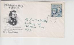 Canada Cover, Stamp Graham Bell   (A-389) - Télécom