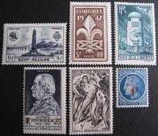 R1692/436 - 1947 - DIVERS - N°786 à 791 NEUFS** - France