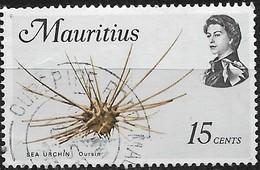 MAURITIUS 1969 Marine Life - 15c - Sea Urchin (brown, Black And Blue) FU - Mauritius (1968-...)