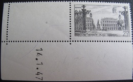 R1692/437 - 1947 - NANCY - N°778 CdF NEUF** - VARIETE ➤ IMPRESSION DEFECTUEUSE : CHIFFRES BLANCS / CADRE BRISE - France