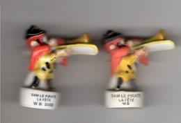 Lot 2 Fèves Dont 1 Mâte & 1 Brillante  SAM LE PIRATE Au Trombone -   LA FETE 2000 & 2001 - / W.B - Cartoons