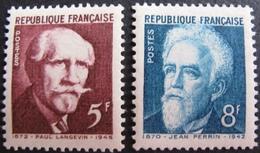 R1692/438 - 1948 - PAUL LANGEVIN / JEAN PERRIN - N°820 à 821 NEUFS** - France