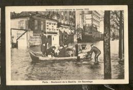 CP-Boulevard De La Bastille - Un Sauvetage - Autres