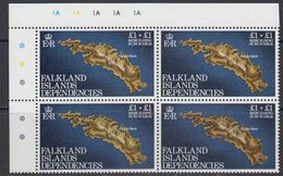 Falkland Islands Dependencies 1982 Rebuilding Fund 1v Bl Of 4 (corner)  ** Mnh (41481B) - Zuid-Georgia