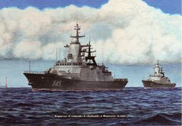 Russian Navy Сorvettes Stoiky And Boiky In The Gulf Of Finland - Guerre
