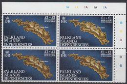 Falkland Islands Dependencies 1982 Rebuilding Fund 1v Bl Of 4 (corner)  ** Mnh (41481C) - Zuid-Georgia