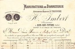 MANUFACTURE DE BONNETERIE H. IMBERT à AIX En OTHE - France
