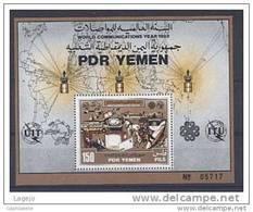 YEMEN SUD Bk07 Année Communications UPU UIT - Yémen