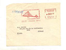 Devant De Lettre Flamme Ema Paris Chambre Commerce Franco Allemand Theme Pont - Marcophilie (Lettres)